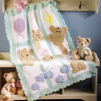 free crochet teddy bear afghan pattern