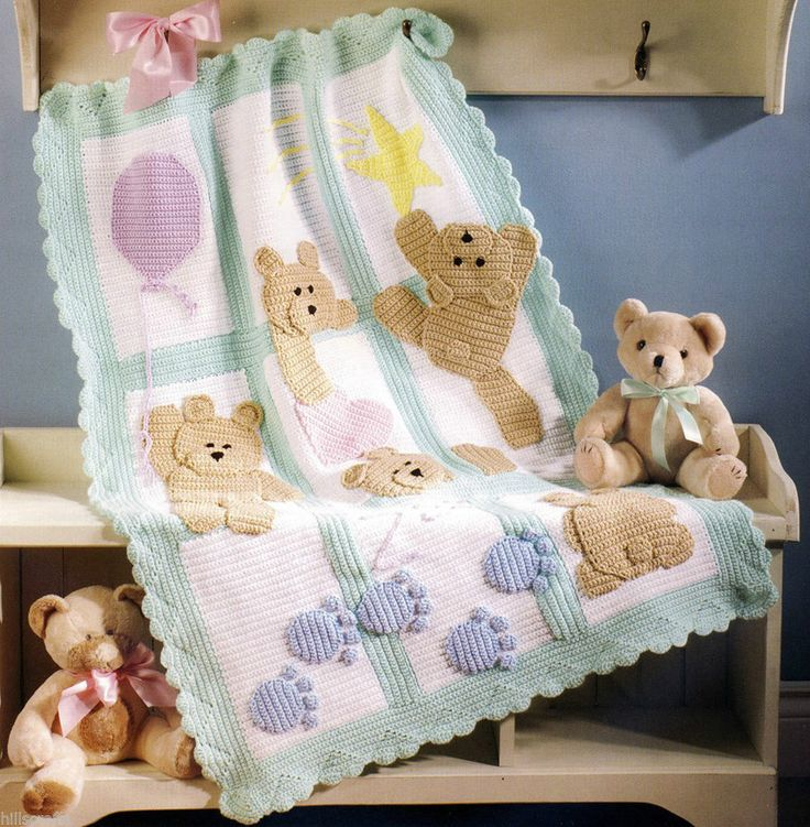 Knitting Pattern For Teddy Bear Baby Blanket : 17 Inspiring Ideas to Crochet a Teddy Bear Pattern ...