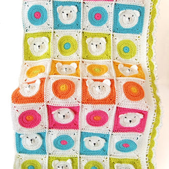 filet crochet teddy bear blanket pattern