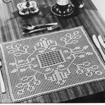 Filet Crochet Placemat Patterns