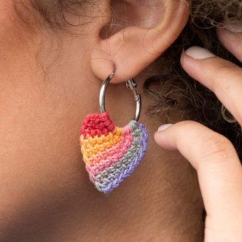 Crochet Heart Earring Patterns