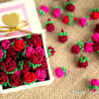 how to crochet a baby rose
