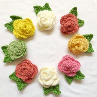 crochet rose brooch pattern