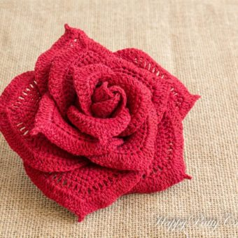 how to crochet a rose flower