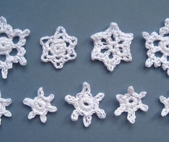 free mini crochet snowflake patterns