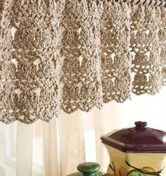 Crochet Kitchen Curtain