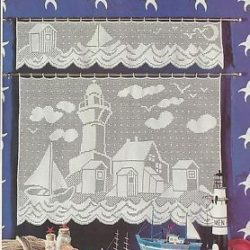 patterns for filet crochet curtains