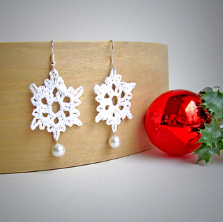 crochet snowflake earrings free pattern