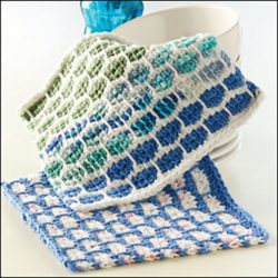 tunisian crochet dishcloth patterns free