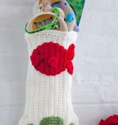 crochet cat christmas stocking