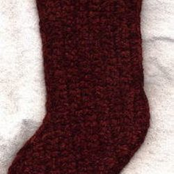 Chunky Crochet Christmas Stocking Pattern