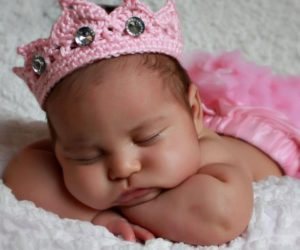 crochet crown for baby pattern