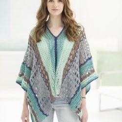 crochet poncho wrap pattern
