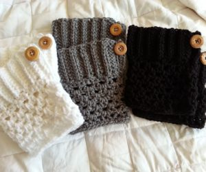 Crochet from J Boot Cuffs Pattern