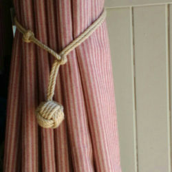 rope curtain tie backs diy