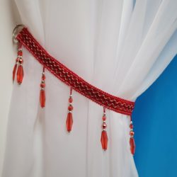DIY Beaded Curtain Tie Back