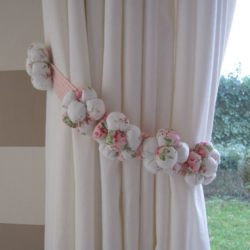 Floral Curtain Tie Back for Girls