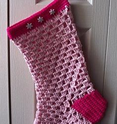 large crochet christmas stocking pattern