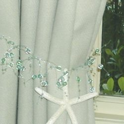 Green Curtain Tie Back