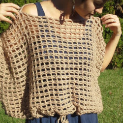 ladies crochet poncho patterns
