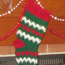 1970's Christmas Stocking Crochet Pattern