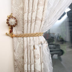 Rope Curtain Tie Back In a Nautical Theme