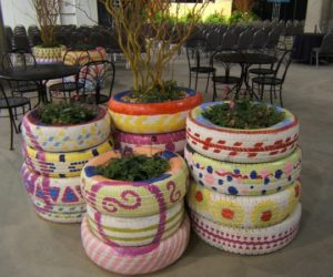 Recycled Tire Planters