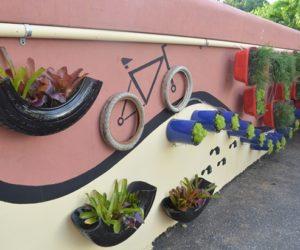 tire garden art