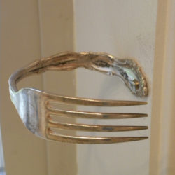 Unusual Curtain Tie Back With a Fork