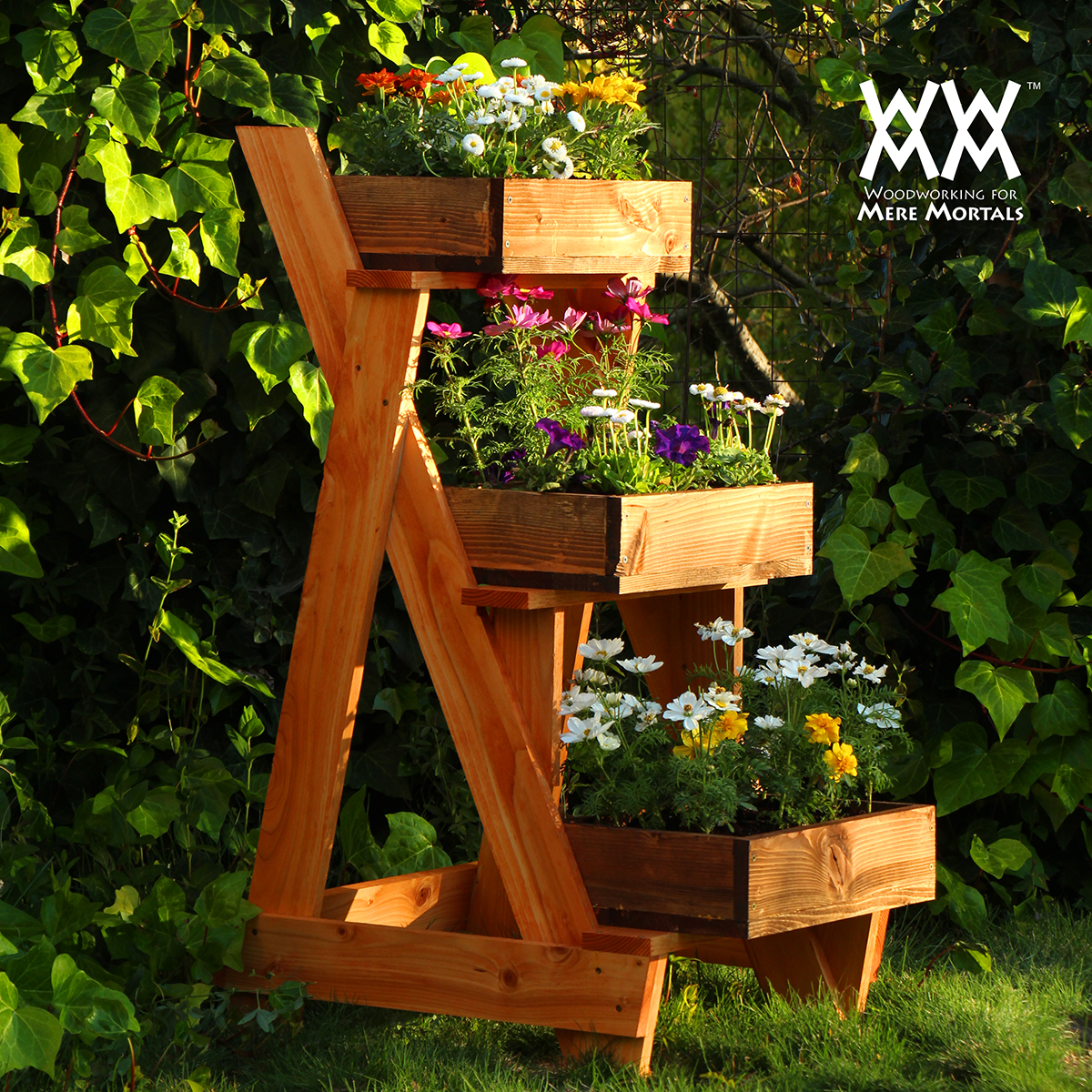 How to make a wood pallet planter 42 diy ideas for Garden planter plans