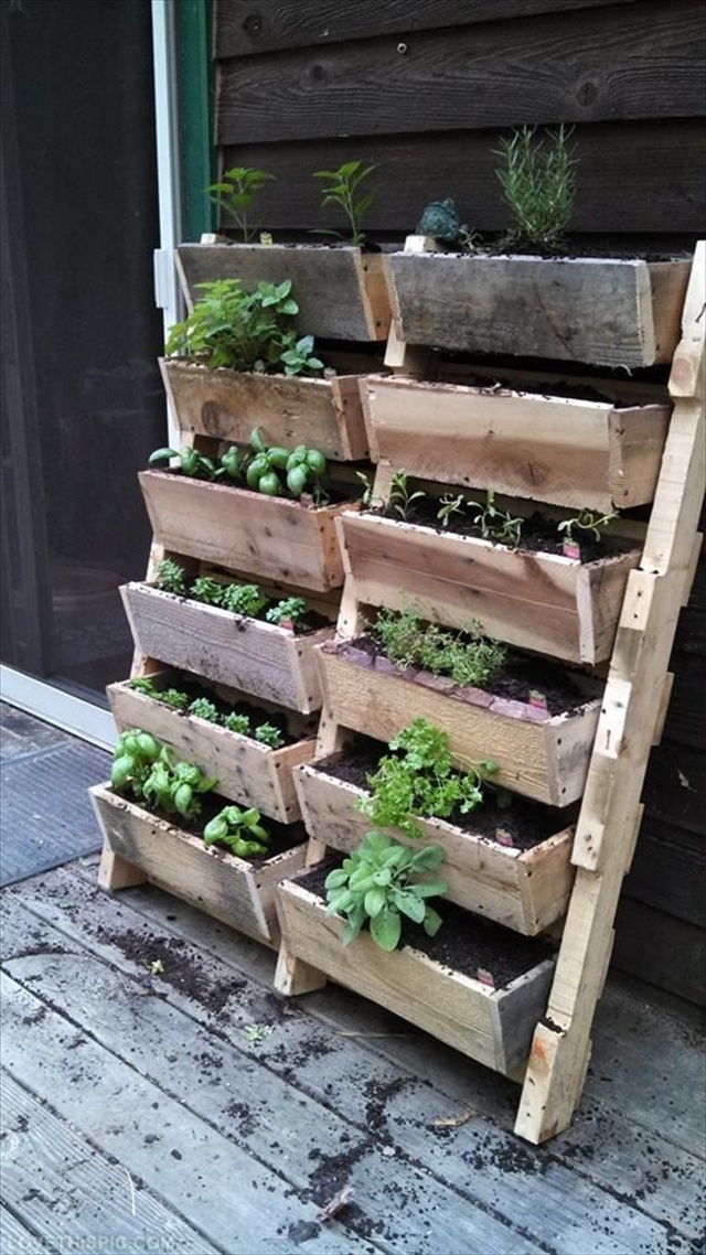 Wood Pallet Wall Planters Planter Garden