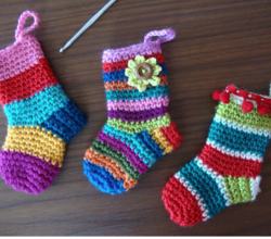 free crochet christmas stocking ornament pattern