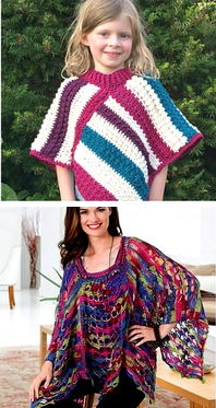 Free Crochet Pattern Poncho With Sleeves : 37 Creative Crochet Poncho Patterns For You - Patterns Hub