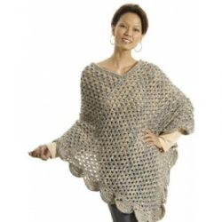 free crochet poncho shawl patterns