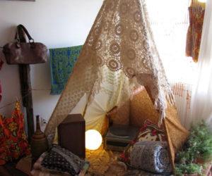 DIY Teepee Lamp