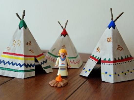 how to build a wigwam for a school project