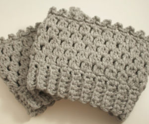 long crochet boot cuffs