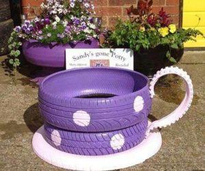 Tire Teacup Planters