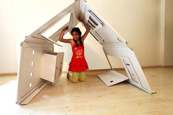 Как из картона сделать домик для ребенка своими руками фото