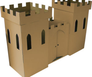 cardboard castle playhouse diy
