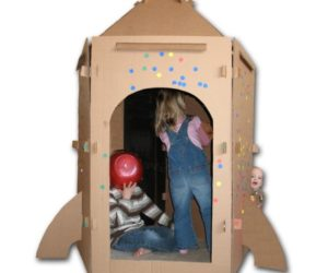 cardboard rocket playhouse pattern