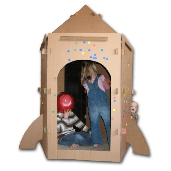 25 Creative Cardboard Playhouses For You Amp Your Kids