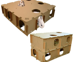 cardboard playhouse for pets