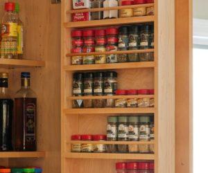 DIY Easy Pantry Door Spice Rack