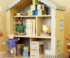Corner Dollhouse Bookcase