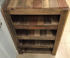 how to pallet shoe rack