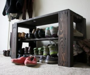Outdoor Shoe Rack Made From Pallets