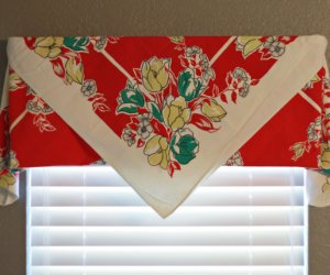 No-Sew Drop Cloth Curtains
