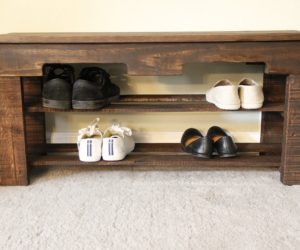DIY Pallet Shoe Rack Furniture