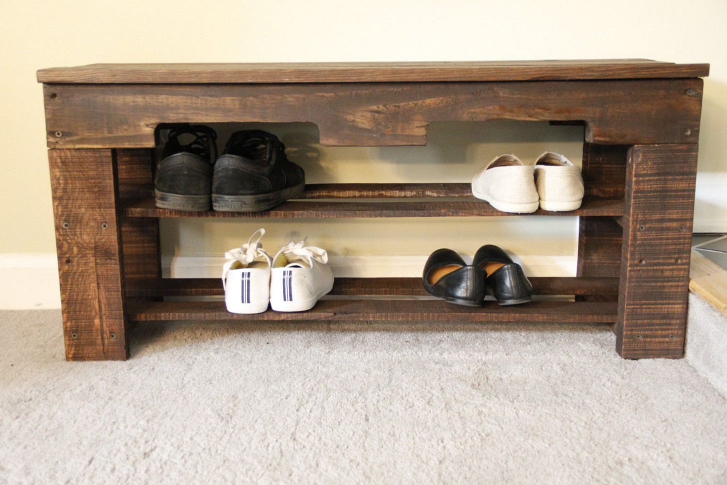 30 Pallet Shoe Rack Ideas To Suit Different Tastes Patterns Hub